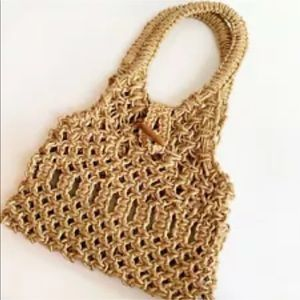 Handbags - Macrame Purse Bag Manilla Rope Natural Fiber Boho